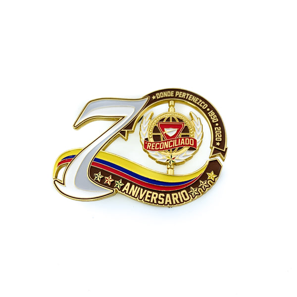 70th Year Colombia Spinner Pin