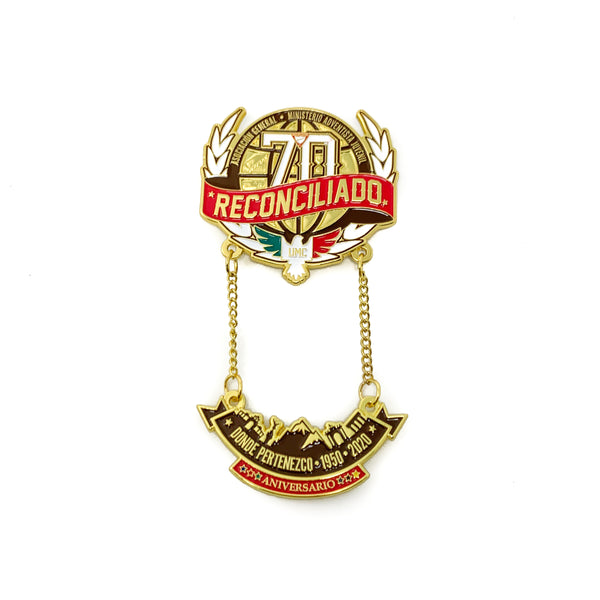 70th Reconciled Central Mexican Union Chain Pin