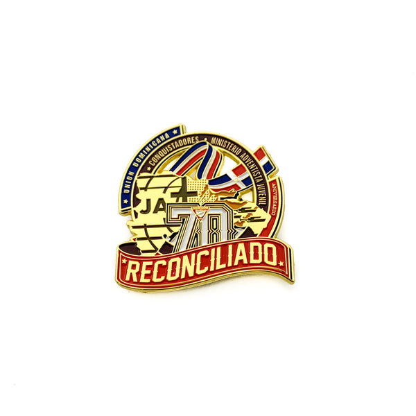 70th Year Anniversary Dominican Republic Union Pin