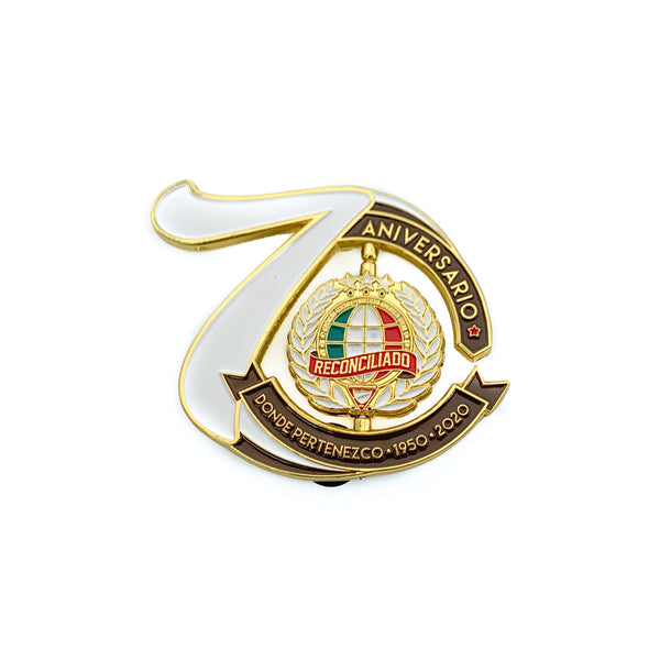 70th Year Central Mexican Union Spinner Pin