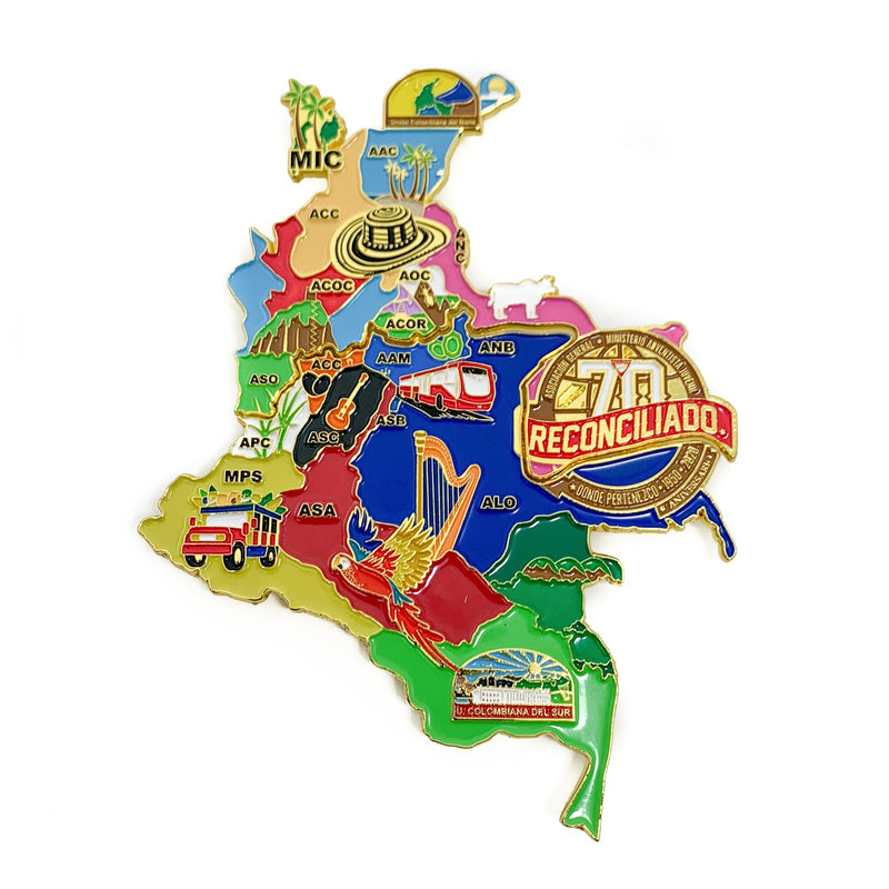 70th Year Reconciled Colombia Map