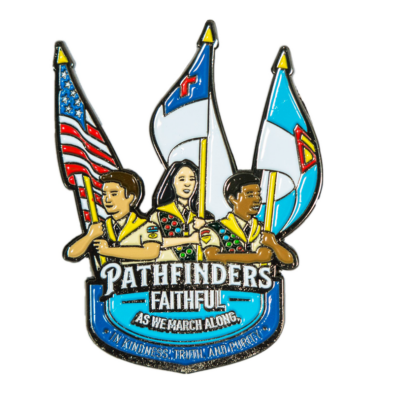 Pathfinders Faithful as we March Along Pin - Pinfinder Club