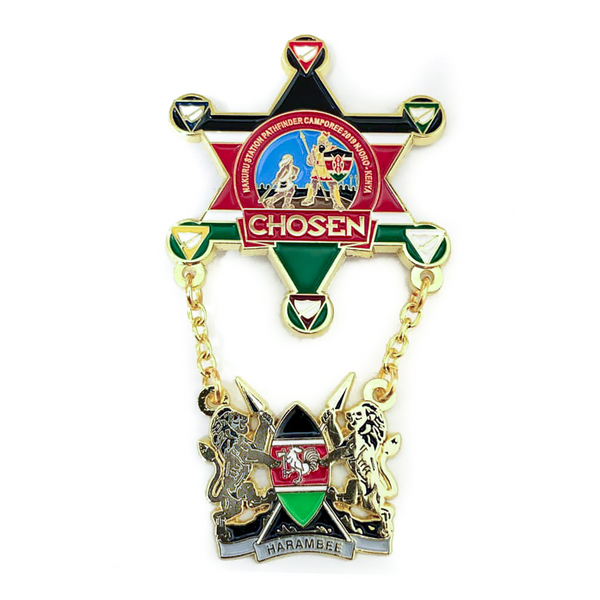 Chosen Kenyan Pathfinder Star Lion of Judah Pin - Pinfinder Club