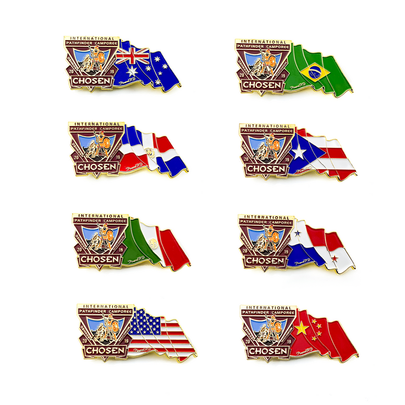 Chosen Flag 8 Pin Set (Bundle) - Pinfinder Club