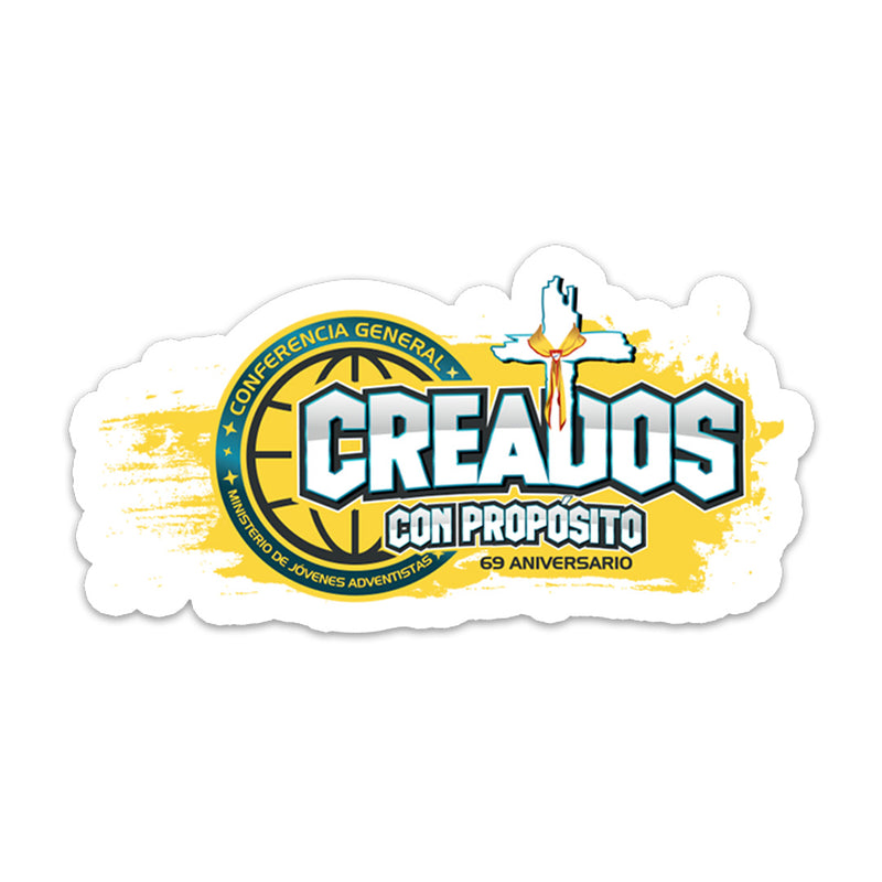 Creados con Propósito Sticker - Pinfinder Club