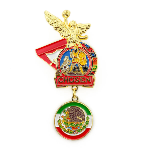 Chosen 2019 Angel of Mexico Gold Pin (Special Edition) - Pinfinder Club