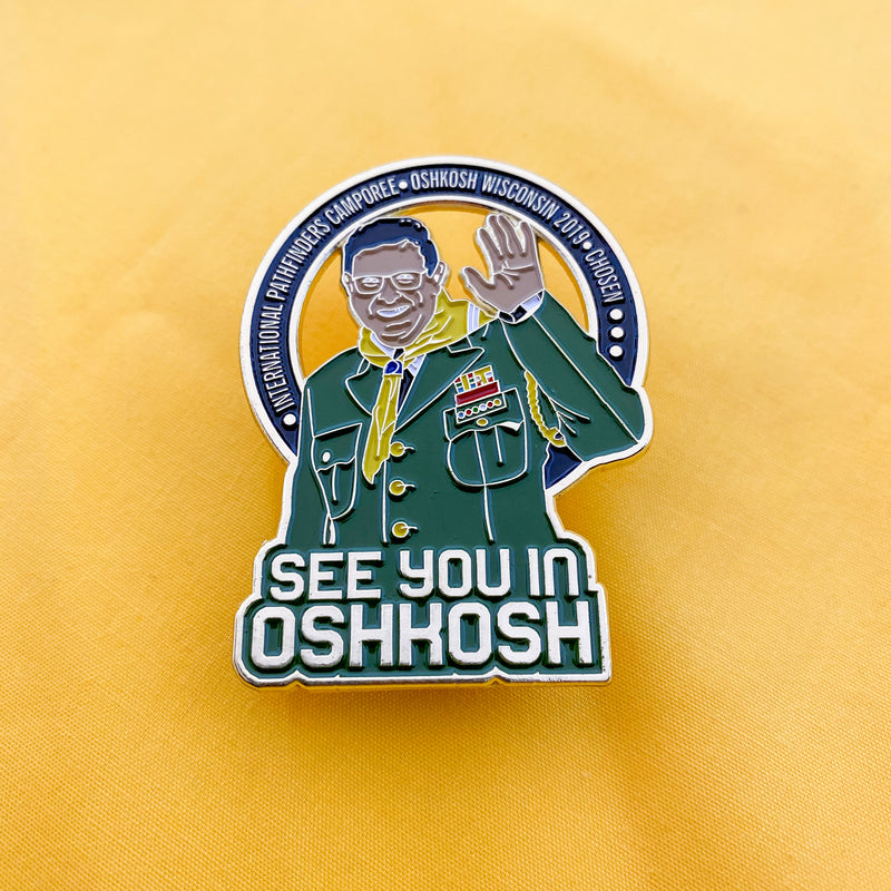 See You in Oshkosh Ron Whitehead Pin (Limited Edition) - Pinfinder Club