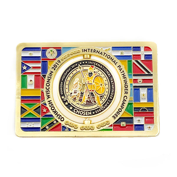 Chosen 2019 Pathfinder Interamerican Flag Pin - Pinfinder Club