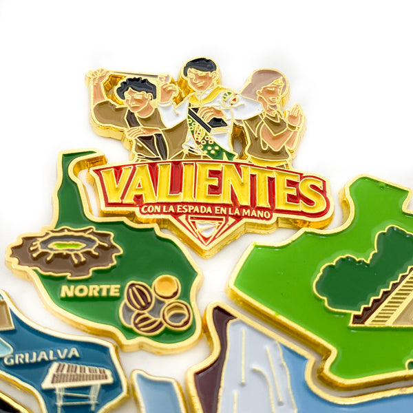 Valientes 2019 Puzzle Map 9 Pieces (Pin Set) - Pinfinder Club
