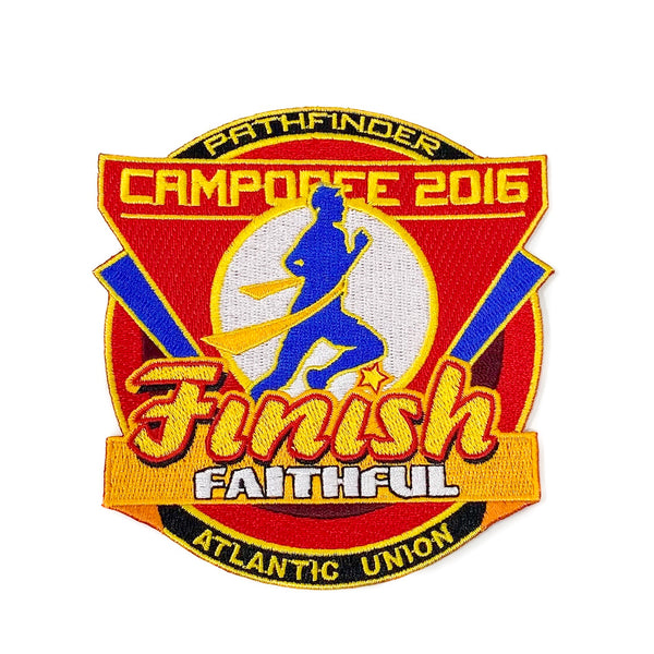 Atlantic Union Finish Faithful 2016 Pathfinder Camporee Patch - Pinfinder Club
