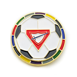 Pathfinder Soccer Ball Spinner Pin (Multi-Color) - Pinfinder Club