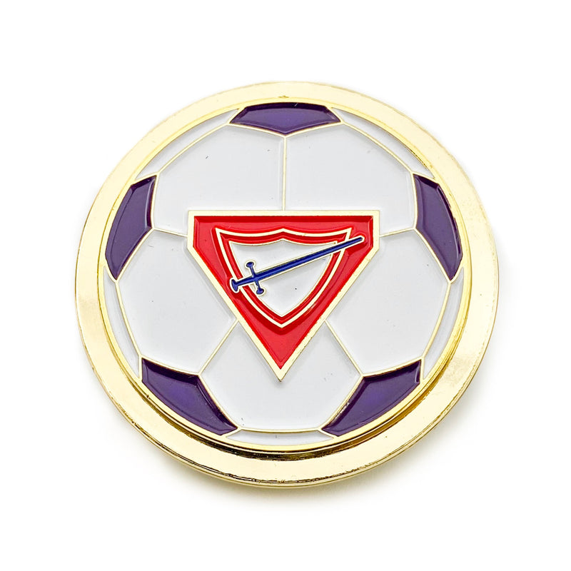 Pathfinder Soccer Ball Spinner Pin (Purple) - Pinfinder Club