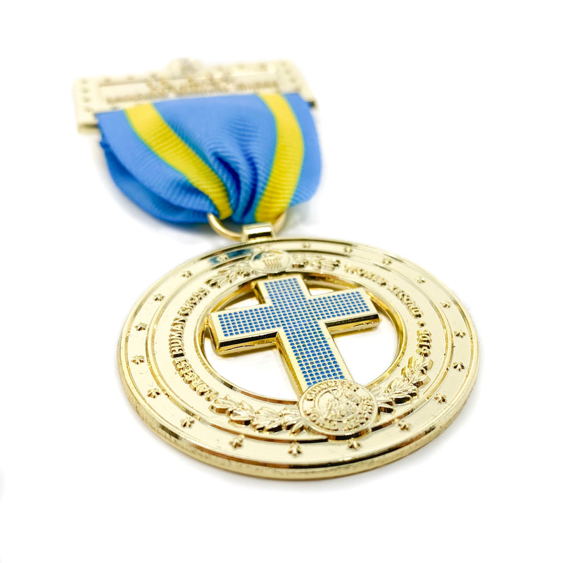 Largest Human Cross World Record Medal - Pinfinder Club