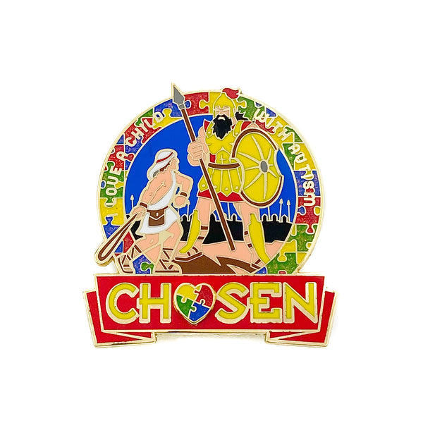 Chosen I Love a Child with Autism Pin - Pinfinder Club