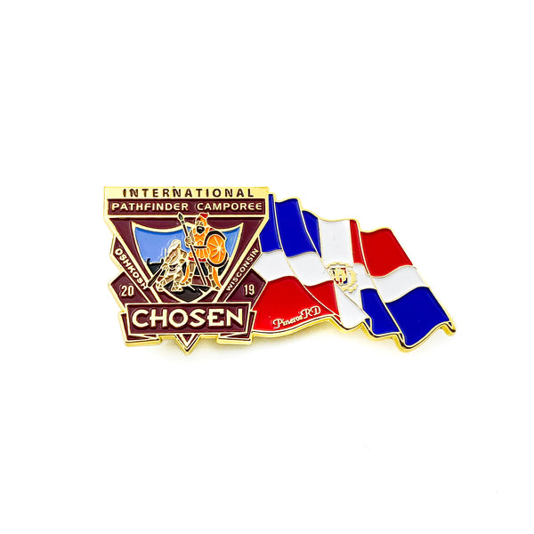 Chosen Flag Pin (Dominican Republic) - Pinfinder Club