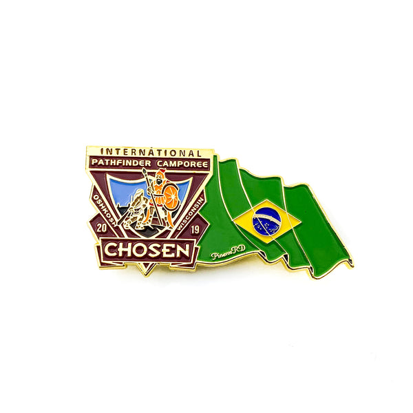Chosen Flag Pin (Brazil) - Pinfinder Club