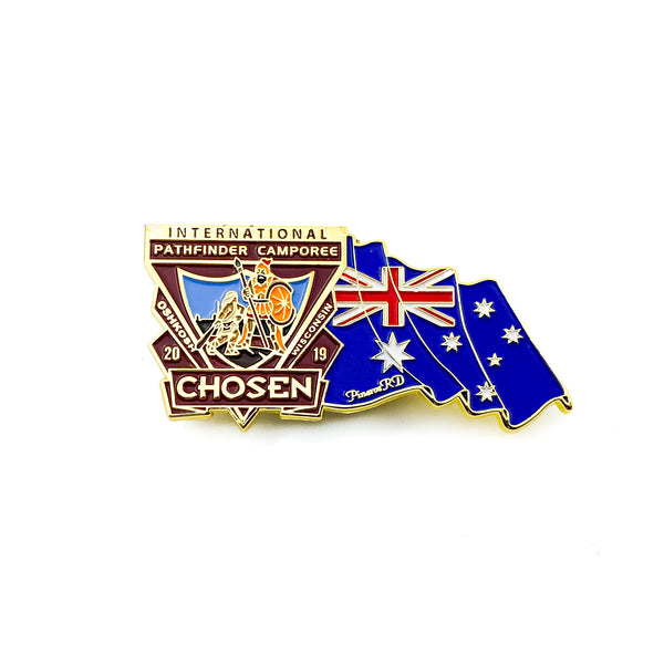 Chosen Flag Pin (Australia) - Pinfinder Club