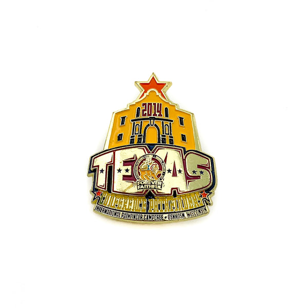 Texas 2014 Forever Faithful Oshkosh Pin (Orange) - Pinfinder Club