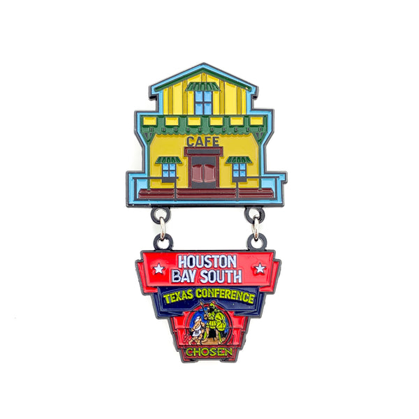 Texas Pathfinder Western Town Chosen Houston Bay South Pin - Pinfinder Club