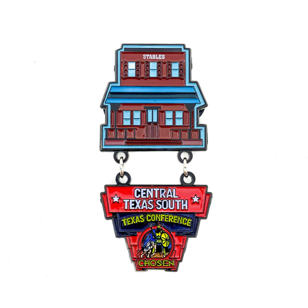Texas Pathfinder Western Town Chosen Central Texas South Pin - Pinfinder Club