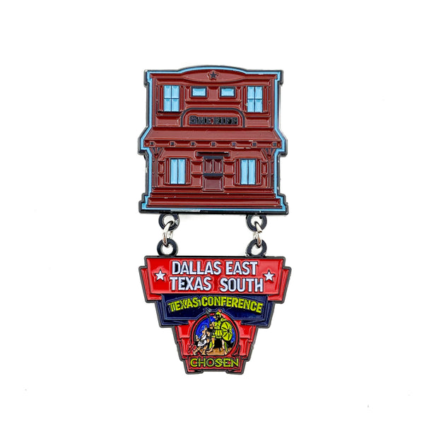 Texas Pathfinder Western Town Chosen Dallas East Texas South Pin - Pinfinder Club