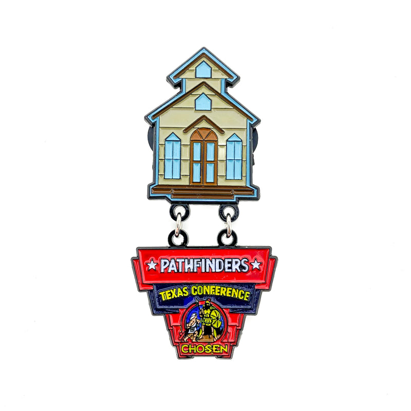 Texas Conference Pathfinder Western Town Pin - Pinfinder Club