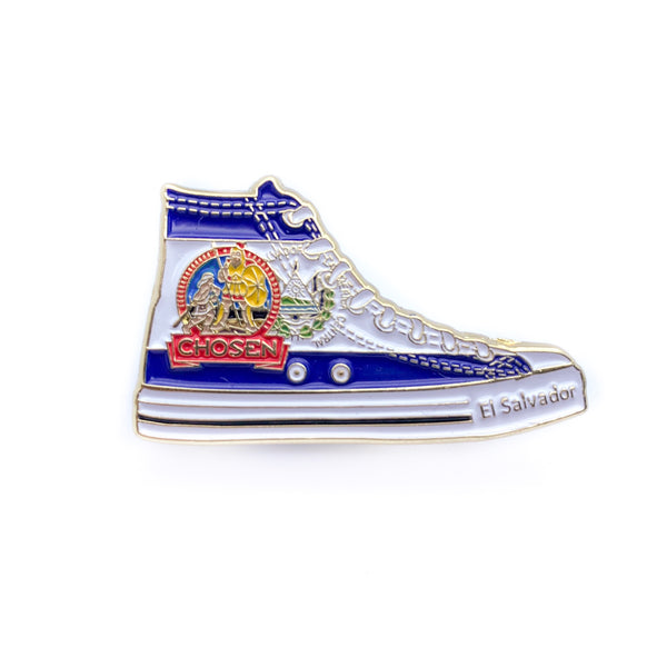Pathfinder Chosen Sneaker Pin (El Salvador) - Pinfinder Club