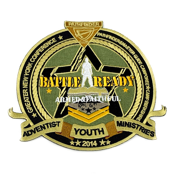 GNYC Battle Ready Armed & Faithful 2014 Pathfinder Patch - Pinfinder Club
