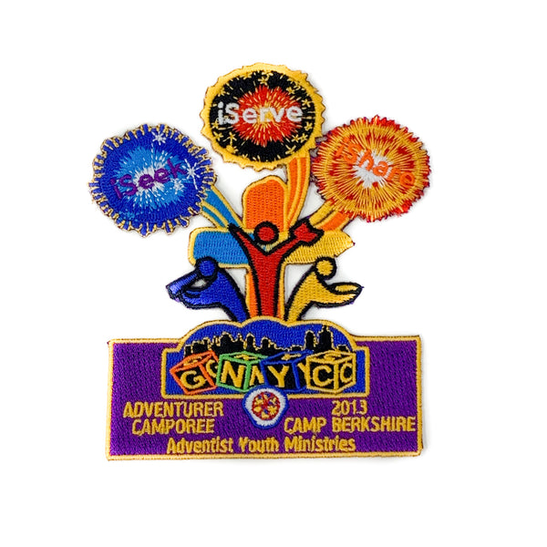GNYC iSeek iServe iShare 2013 Adventurer Camporee Patch - Pinfinder Club