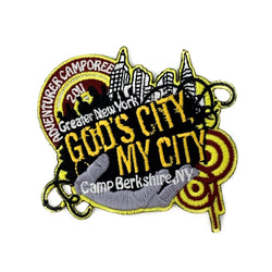 GNYC God's City My City 2011 Adventurer Camporee  Patch - Pinfinder Club