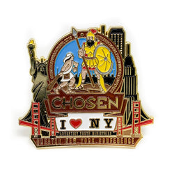 GNYC I Love NY Chosen 2019 Pin (Brown) - Pinfinder Club