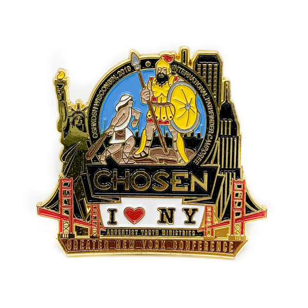 GNYC I Love NY Chosen 2019 Pin (Black) - Pinfinder Club