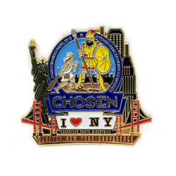 GNYC I Love NY Chosen 2019 Pin (Blue) - Pinfinder Club