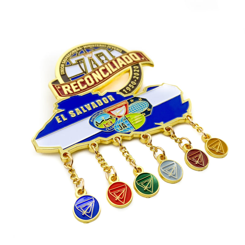 El Salvador Union 70th Anniversary Reconciliado pin