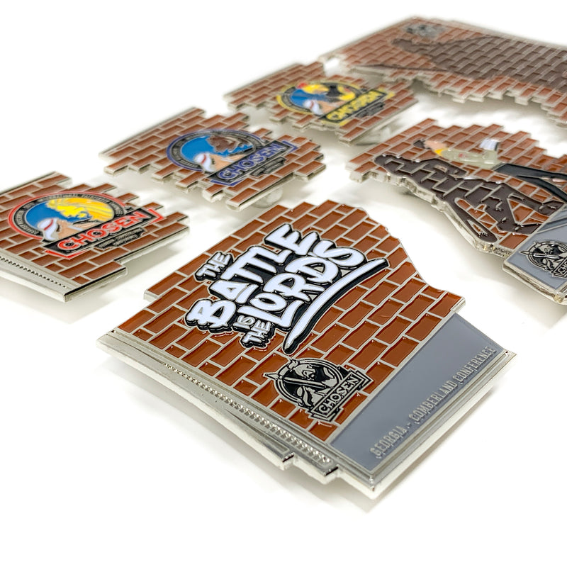 The Battle is the Lord's Giant 6 Piece Puzzle Pin Set - Pinfinder Club
