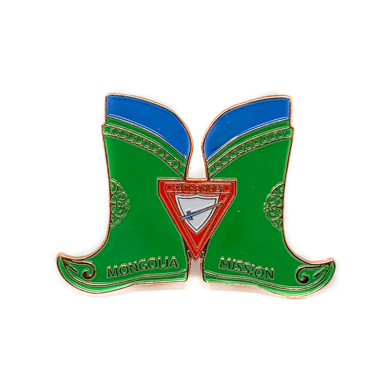 Mongolia Mission Pathfinder Boots (Pin Set) - Pinfinder Club