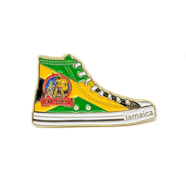 Pathfinder Chosen Sneaker Pin (Jamaica) - Pinfinder Club
