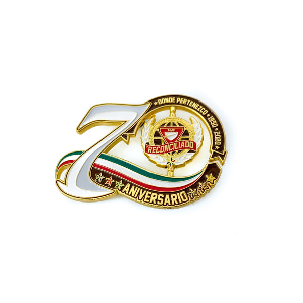 70th Year Mexican Union Spinner Pin