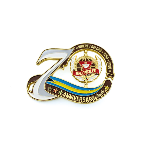 70th Year Bahamas Spinner Pin