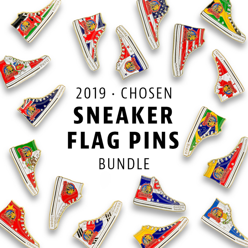 Chosen 2019 Flag Sneakers Bundle - Pinfinder Club