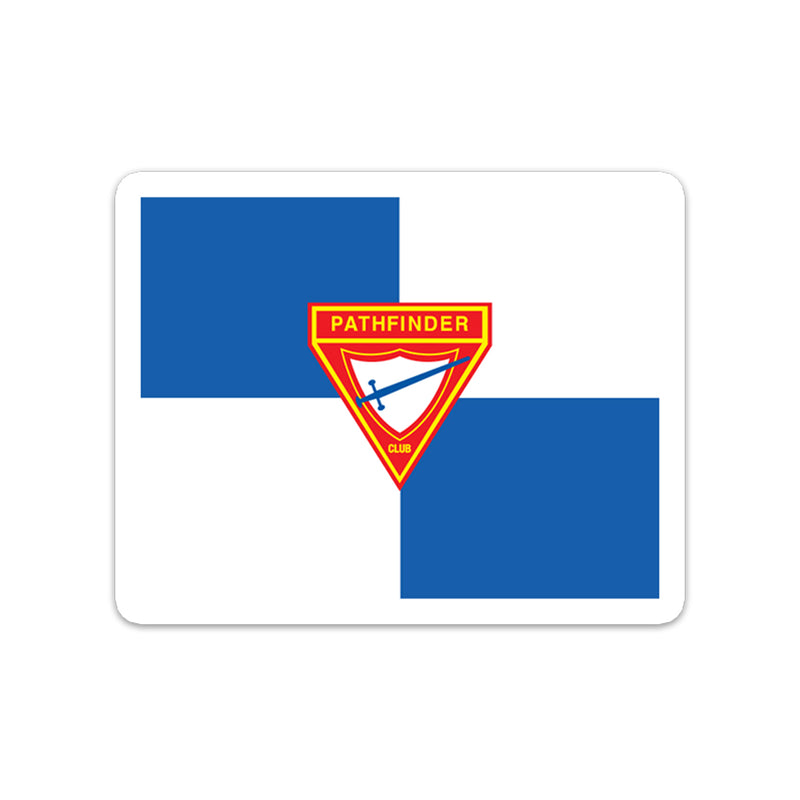 Pathfinder Flag Sticker - Pinfinder Club