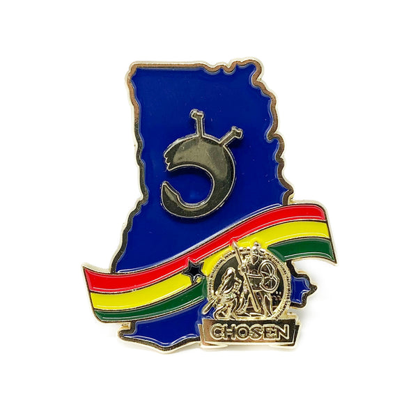 Ghana Gold Chosen Return and Get it Pin (Blue) - Pinfinder Club