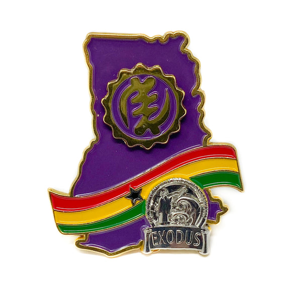 Ghana Sliver Exodus God is King Pin (Purple) - Pinfinder Club