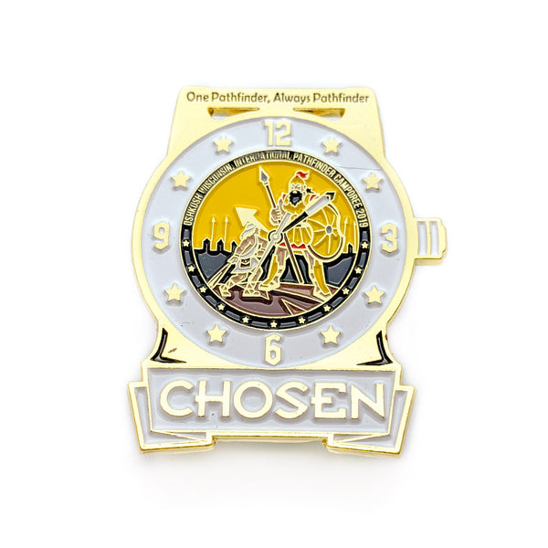 Chosen 2019 Pathfinder Watch Pin (White) - Pinfinder Club