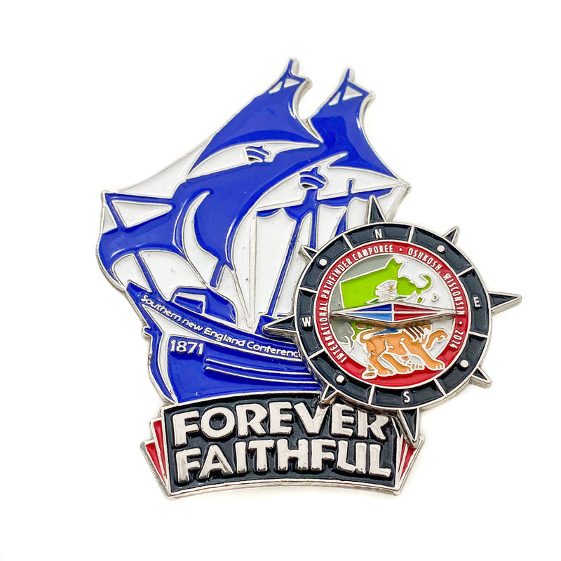 Forever Faith 2014 Southern New England Conference Ship Pin - Pinfinder Club