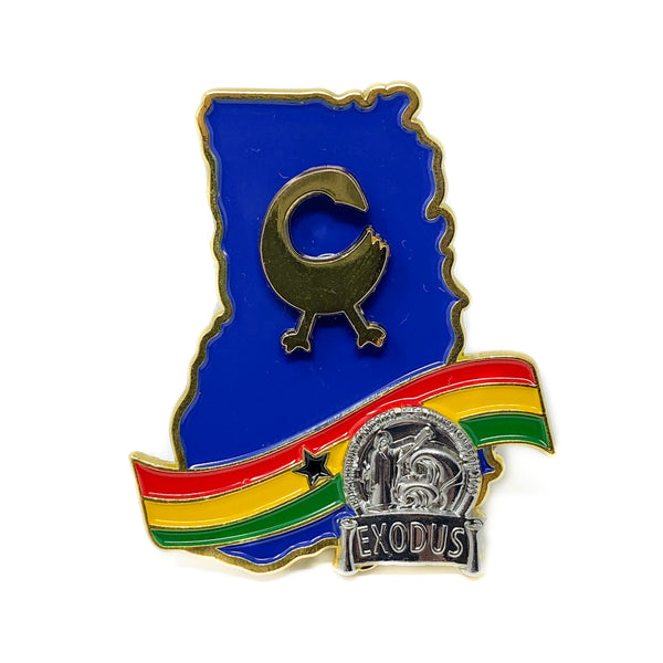 Ghana Silver Exodus Return and Get it Pin (Blue) - Pinfinder Club