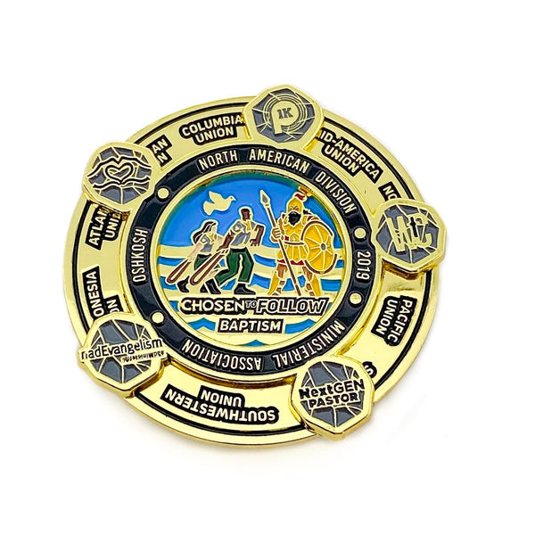 NAD Chosen to Follow Baptism Pin (Charity) - Pinfinder Club