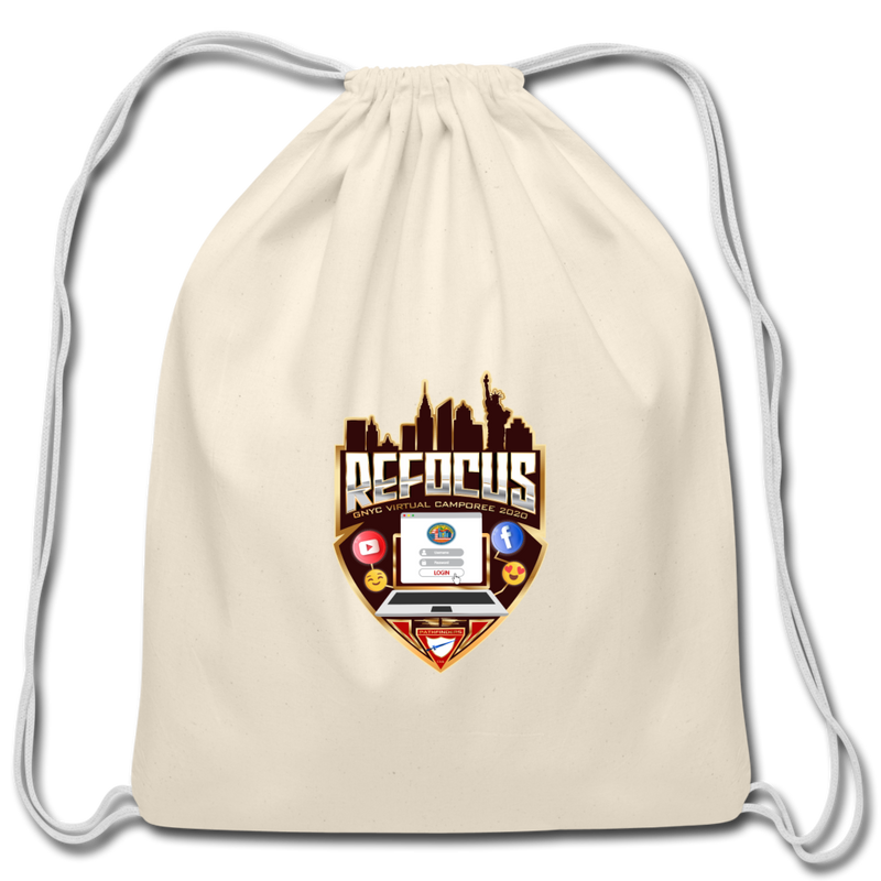 GNYC Virtual Camporee 2020 Refocus Drawstring Bag - natural