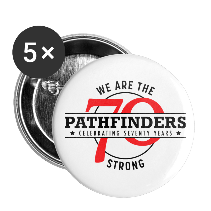 We are Pathfinders Buttons (5-pack) - white