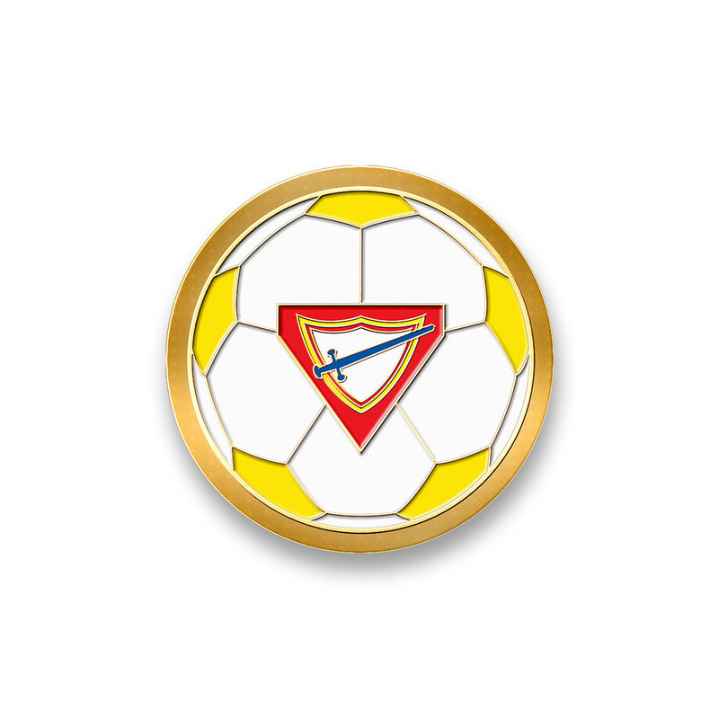 Pathfinder Soccer Ball Spinner Pin (Yellow) - Pinfinder Club